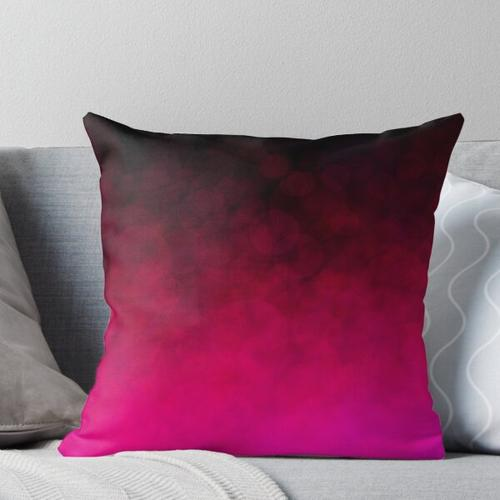 Magenta Luminescence Throw Pillow