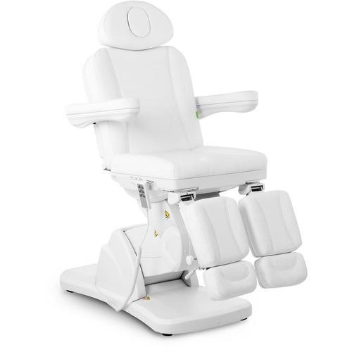 Physa - Fußpflegestuhl elektrisch Kosmetikstuhl weiß Kosmetikliege höhenverstellbar