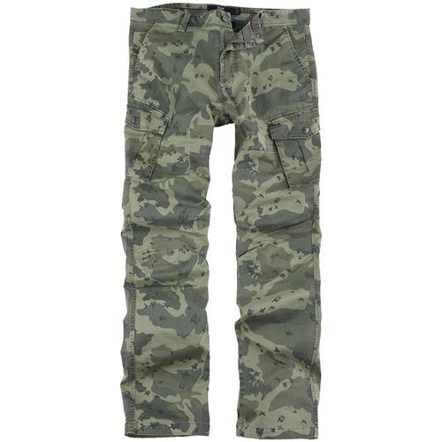 Black Premium by EMP Cargohose mit Camouflage-Muster Herren-Cargohose - camouflage