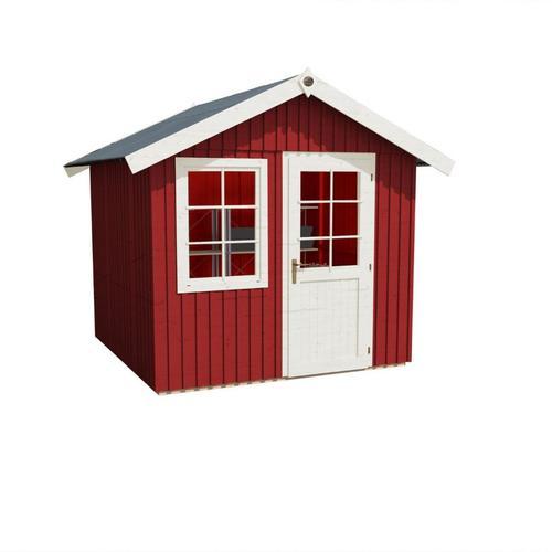 weka Gerätehaus Schwedenhaus 410 schwedenrot Geräteschuppen, 252x248 cm