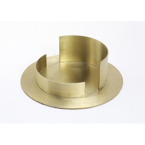 Taufkerzenhalter Messing, gold, Innen Ø 10 cm matt