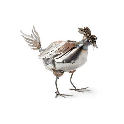 Recycled Metal Garden Chicken
