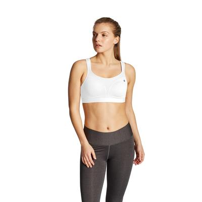 Plus Size Women's Spot Comfort Sports Bra by Champion in White (Size 38 C)