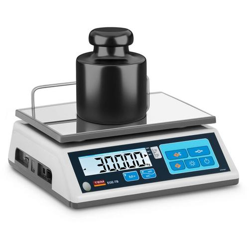 Tischwaage 30 kg/10 g geeicht Marktwaage Ladenwaage Memory-Funktion LCD