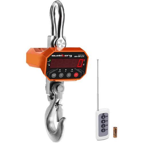Kranwaage LED Industriewaage Hängewaage Lastenwaage 5000 Kg 2 Kg Waage Akku
