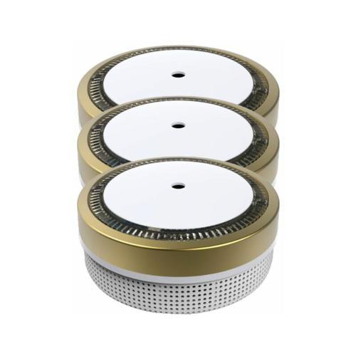 Mini Rauchmelder RWM100-Gold 3er Set - 10 Jahres Batterie - VDS geprft - Jeising