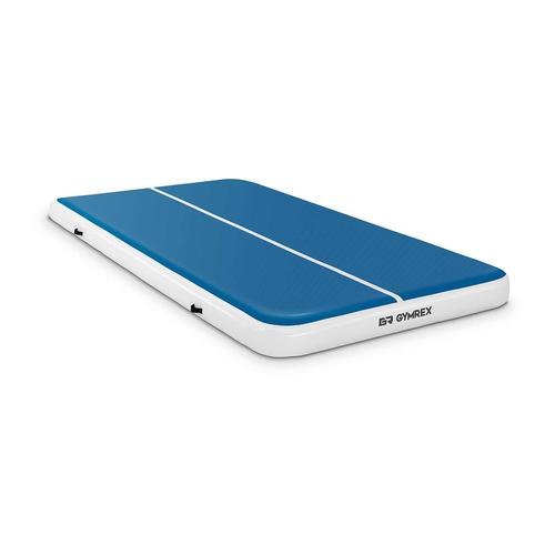 Gymrex Aufblasbare Turnmatte - Airtrack - 300 x 200 x 20 cm - 300 kg - blau/weiß GR-ATM8