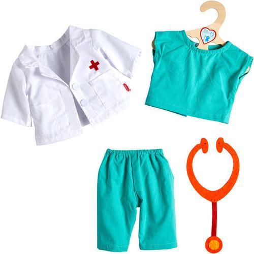 Puppen-Outfit Ärztin/Arzt, weiß