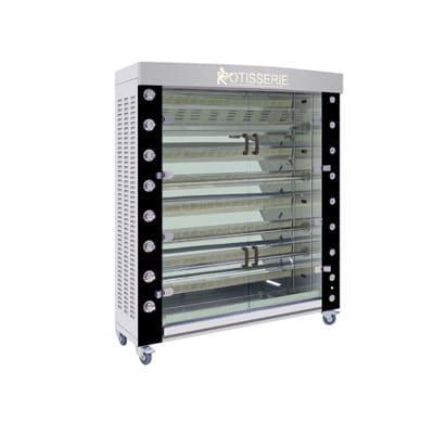 Rotisol USA FB1400-8G-SSP Gas 8 Spit Commercial Rotisserie w/ 48 Bird Capacity, Liquid Propane