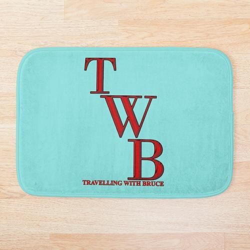 TWB vertikales Logo Badematte