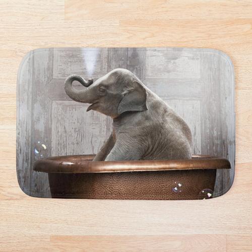 Elefant in der Badewanne Badematte