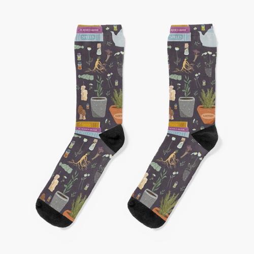 Muster der Zauberkomponenten Socken