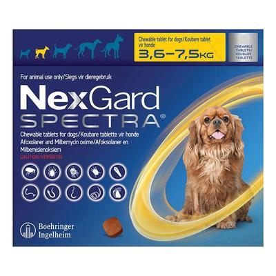 Nexgard Spectra Tab Small Dog 7.7-16.5 Lbs Yellow 6 Pack