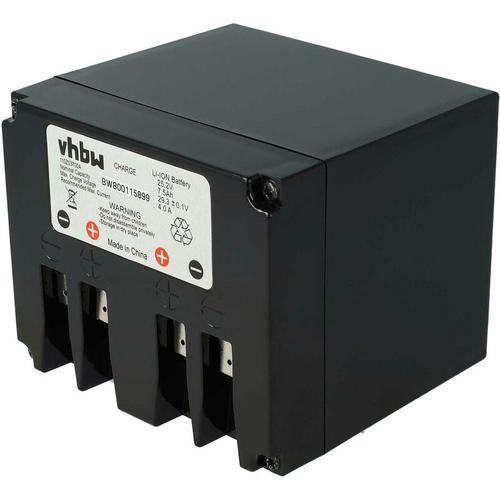vhbw Li-Ion Akku 7500mAh (25.2V) für Rasenmäher Rasenroboter wie Zucchetti Typ B