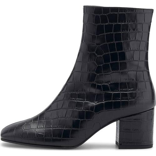 Högl, Kroko-Stiefelette in schwarz, Stiefeletten für Damen Gr. 39
