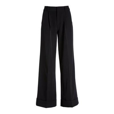 Boston Proper - High-Waist Wide-Leg Crepe Pant - Black - 08