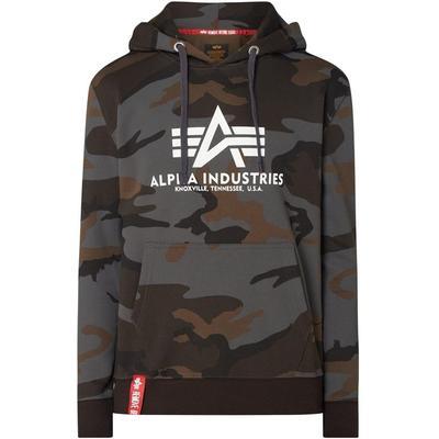 Alpha Industries Hoodie mit Camouflage-Muster