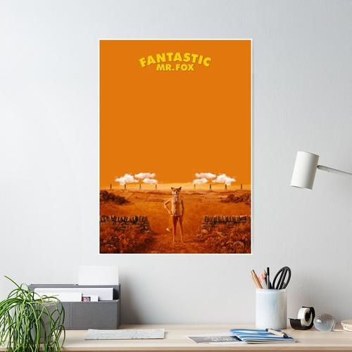 yellow mr fox Poster