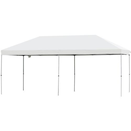 ® Faltpavillon Festzelt Partyzelt Wasserfestes Gartenzelt Sonnenschutz Stahl Weiß - weiß/grau