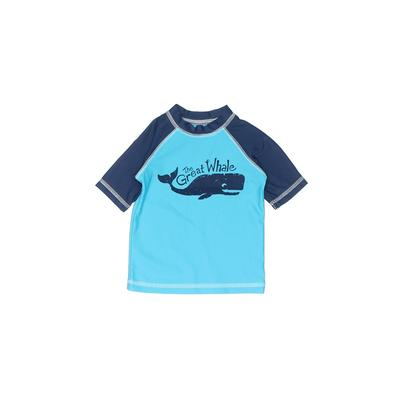 Circo Rash Guard: Blue Solid Sporting & Activewear - Size 18 Month