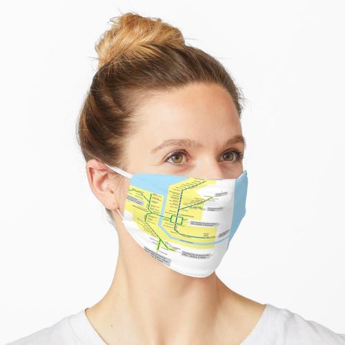 Merseyrail Netzwerkkarte Maske