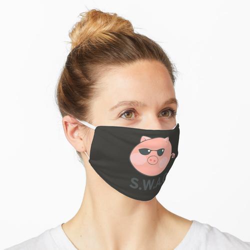 Swag Schwein süßes Schwein Cool Funny Meme Brille Sonnenbrille Geschenk für ihn Geschenk fü Maske