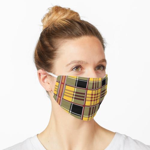 SCHOTTISCH. SCHOTTISCHER TARTAN. Plaid, Gelb, Rot, Schwarz, Muster. Maske
