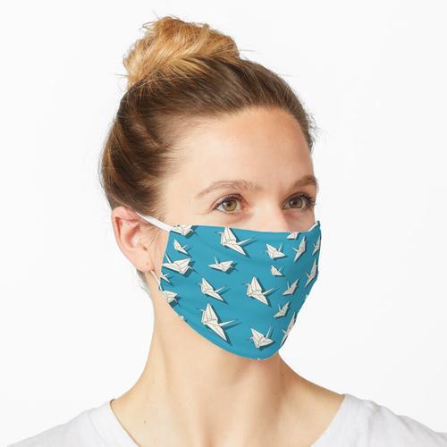 Papier Kräne Muster Maske