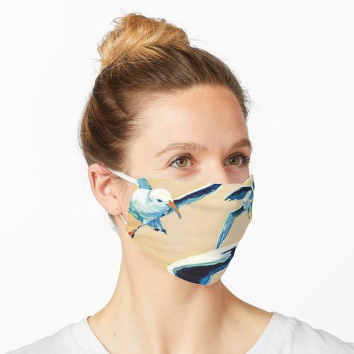 Die Menge zum Mittagessen Maske