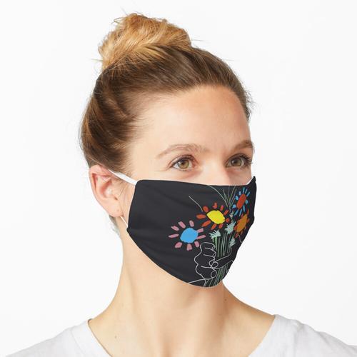 Blumenstrauß - Picasso Line Art Maske
