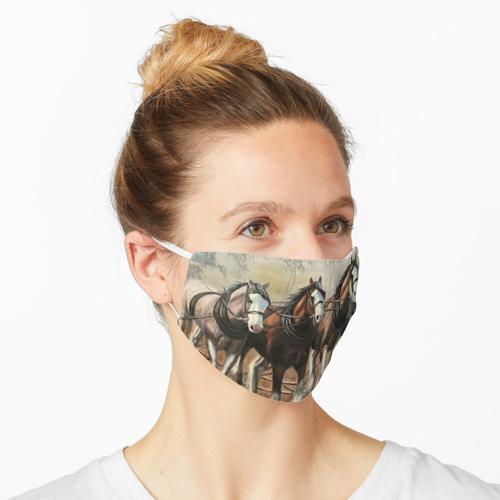 Clydesdale Pferde Maske