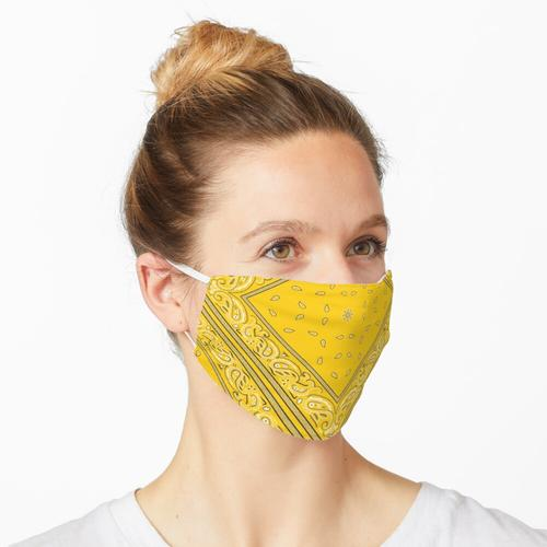 Gelbes Bandana Maske