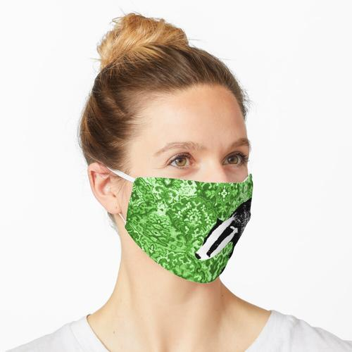 Dachs auf grünem Gobelin Maske