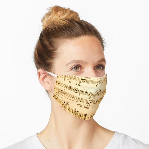 Notenblätter Maske