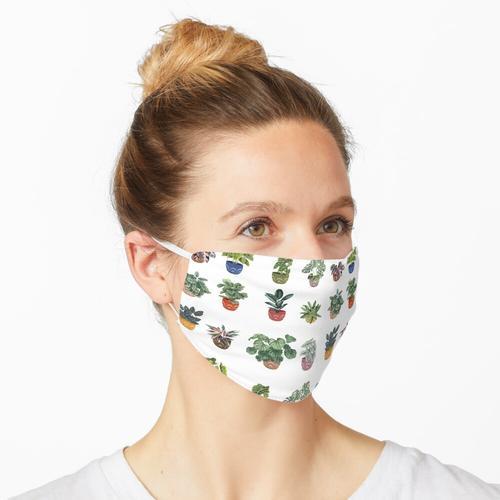 Topfpflanzen Muster Maske