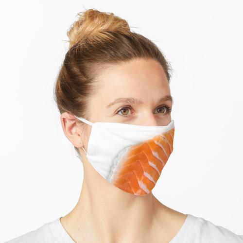 rohes Lachsfilet Maske