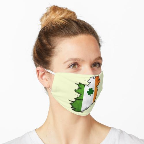 Irische Flagge und Irische Karte Maske