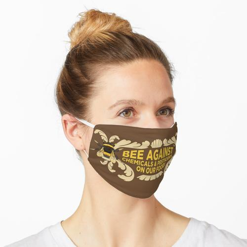 Biene gegen Chemikalien und Pestizide auf unserem Essen! Maske