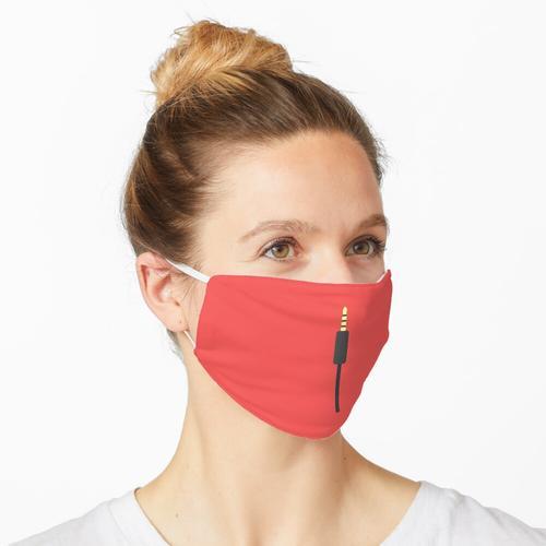 Musik-Zusatzkabel auf Rot Maske