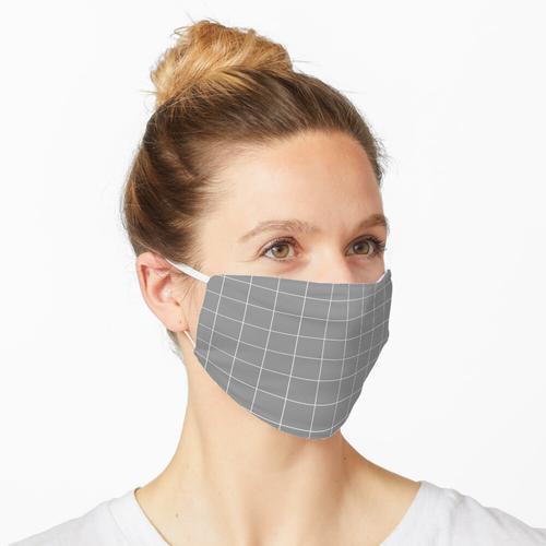 Fensterscheibe Check Grid (weiß / grau) Maske