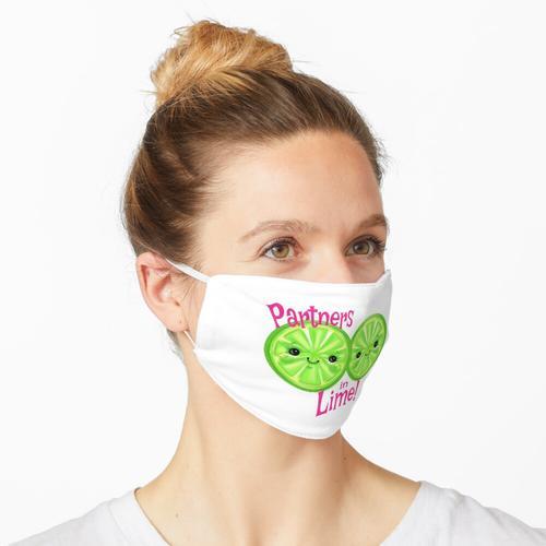 Partner in Limette - Zwei süße kleine Limetten Maske