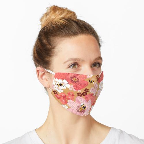 Hummeln und Pollen Maske