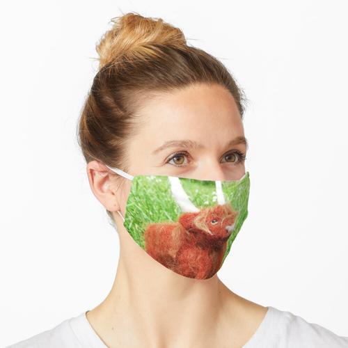 Nadelgefilzte Hochlandkuh Maske