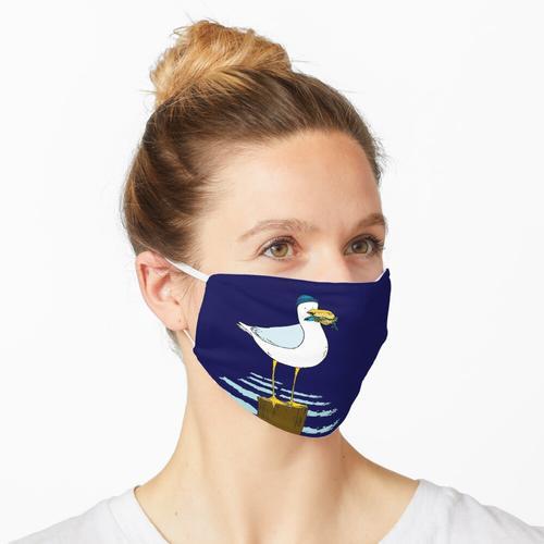 Möwe mit Fischbrötchen Maske