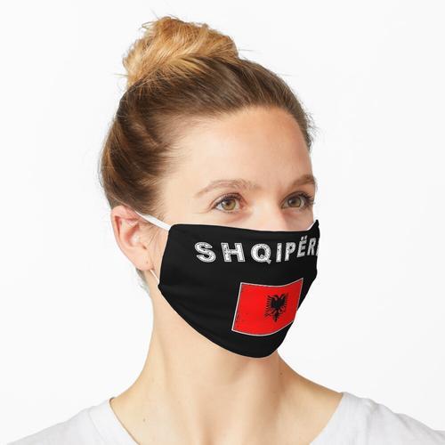 Albanien albanisch Flagge Fahne Maske