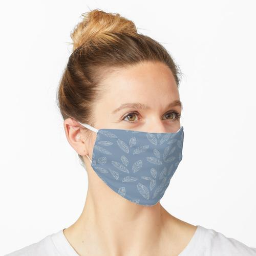 Boho Leaf-Dusty Blue in der Inneneinrichtung Maske