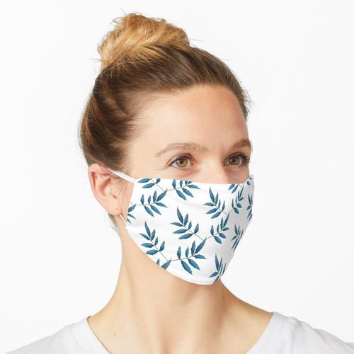 Kletterpflanze. Blau Maske