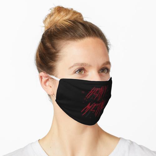 Dunkelrotes Heavy Metal Logo Maske