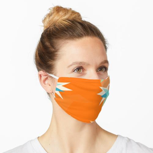 Orange Papierkräne Maske