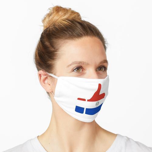 Daumen der Fahne von Paraguay Maske